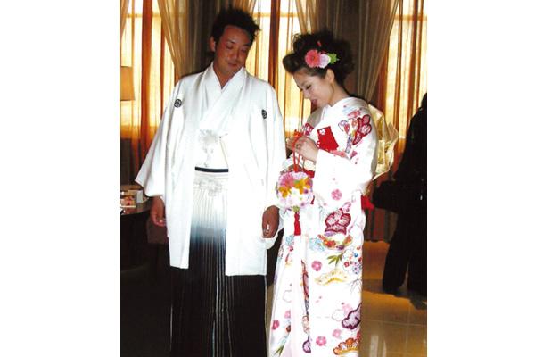 兵庫県「新郎新婦着せ付け」堤多恵子 着付師が、結婚式の着せ付け